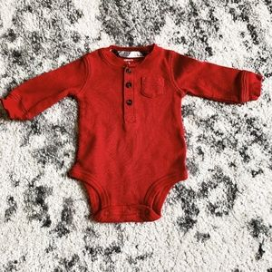RED BODYSUIT FROM CARTERS 3 MONTHS